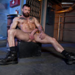 BEARDED & HAIRY: Eddy Ceetee with Sergeant Miles