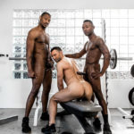 Colby Tucker shared in a THREESOME at the GYM