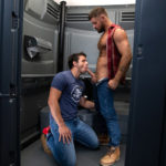 Inside a portable toilet for Jack Andy & Nate Grimes
