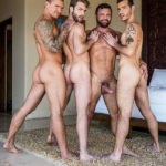 BOTTOM IN A FOURSOME - Sergeant Miles, Isaac X, Ricky Hard & Gabriel Phoenix