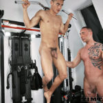 Building up MUSCLES while getting fucked for Santiago Rodriguez